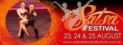 Melbourne Aerial Dance Company (VIC) will be teaching and performing at the 5th annual Adelaide Salsa Festival 23, 24 & 25 August 2013! 2 days & 3 sizzling nights of spectacular Latin dance parties, performances & workshops with the best of the best in the Latin dance industry!  www.adelaidesalsafestival.com.au