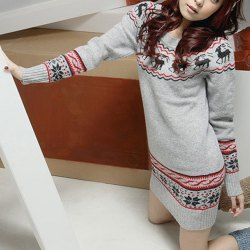 SHARE & Get it FREE   Fashionable Snowflake and Elk Printed Ugly Christmas Sweater Dress For WomenFor Fashion Lovers only:80,000+ Items • FREE SHIPPING Join Nastydress: Get YOUR $50 NOW!