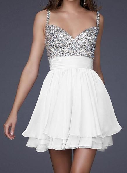 Короткое пышное платье из шифона