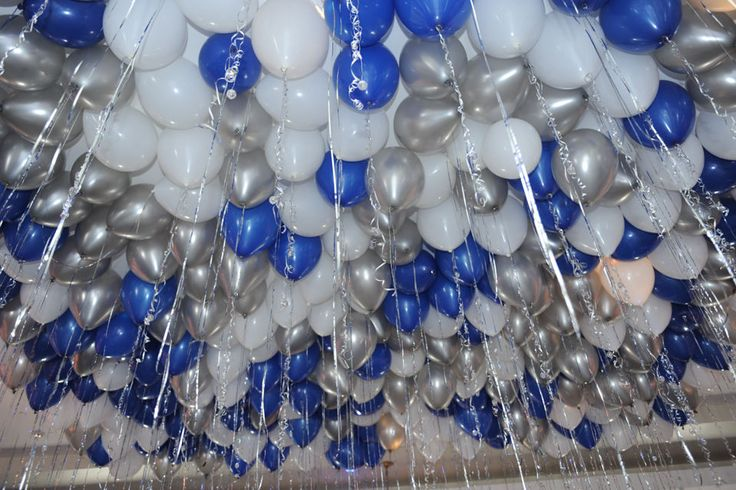 Silver And Blue Balloons Www Pixshark Com Images