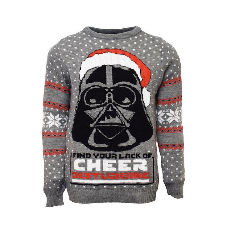 Darth Vader Official Star Wars Unisex Grey Christmas Xmas Jumper / Sweater  | eBay