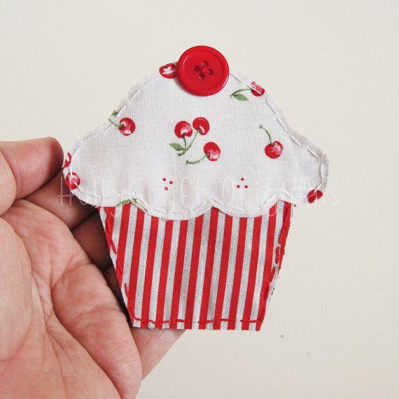 Cupcake Applique Cupcake-Patch Stoff von HollyCraftOriginals