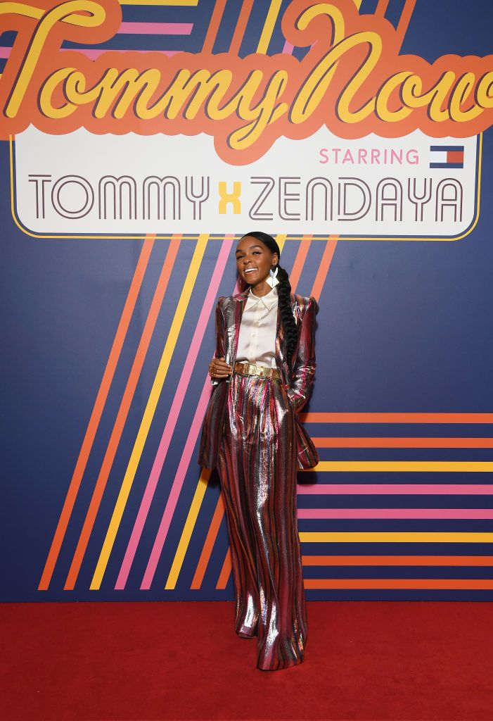 5aa66d24 PARIS, FRANCE - MARCH 02: Janelle Monae attends the Tommy Hilfiger TOMMYNOW  Spring 2019 : TommyXZendaya Premieres at Theatre des Champs-Elysees on  March 02, ...
