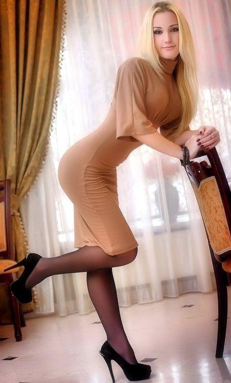 Sexy In Pantyhose Blonde Tini 46