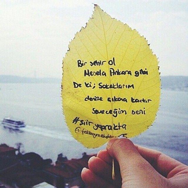 Bir şehir ol. Mesela, Ankara gibi... De ki; sokaklarım denize çıkana kadar seveceğim seni...  #sözler #anlamlısözler #güzelsözler #özlüsözler #alıntılar #alıntı