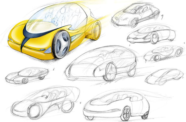 illustration concept car futuriste Florence Gendre #illustration #design #conceptcar