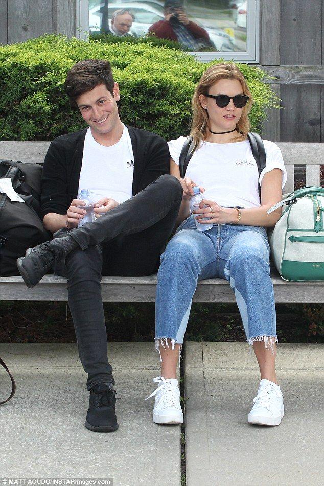 Little getaway: Karlie and boyfriend Joshua Kushner marked Memorial Day in the Hamptons...