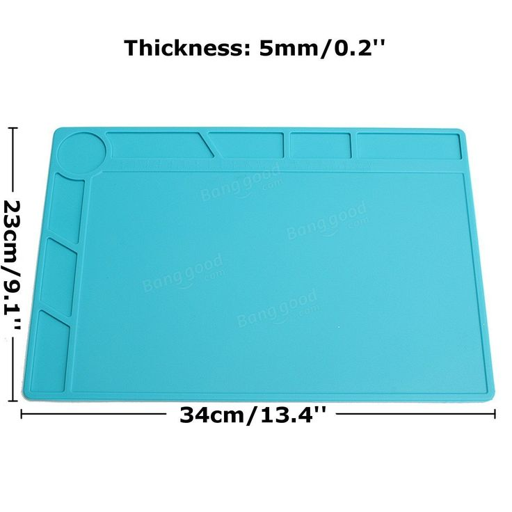 DANIU 34x23cm Heat-resistant Silicone Pad Desk Mat Maintenance Platform Heat Insulation BGA Soldering Repair Station with 20 cm Scale Ruler Sale - Banggood.com