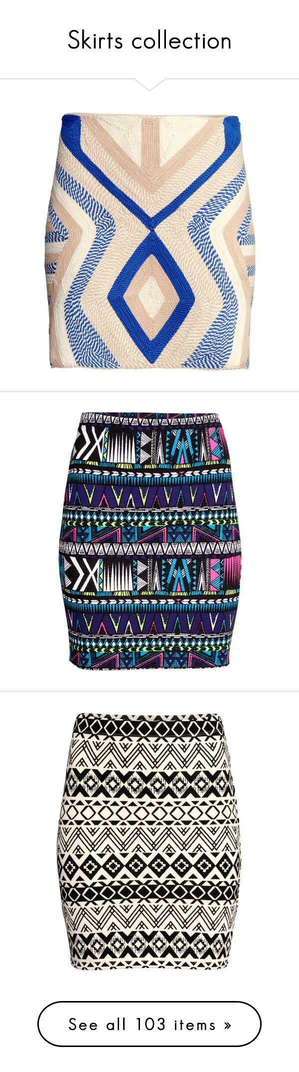 """""""Skirts collection"""" by vladoslav ❤ liked on Polyvore featuring skirts, h&m, h&m skirts, embroidered skirt, elastic waist skirt, jersey knit skirt, print skirt, pattern skirt, jersey skirt and mini skirts"""