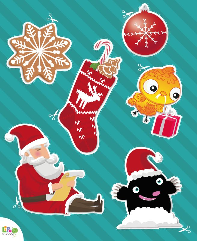 6 days to Christmas! Lipa brings free downloadable Christmas decorations for your home and classroom!