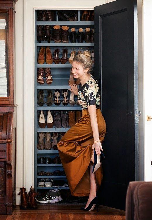 Shoe closet via Because It's Awesome