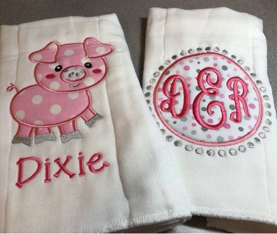 Personalized Name Burp Cloth Baby Burp Cloths Monogram Baby Gifts Baby Shower Gift Unique Baby Gifts Monogram Baby Burp Cloth Set