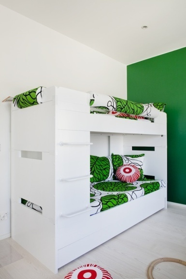 White green kids room