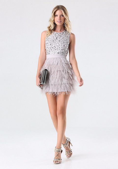 RHINESTONE FEATHER DRESS http://bit.ly/1O61Ycz