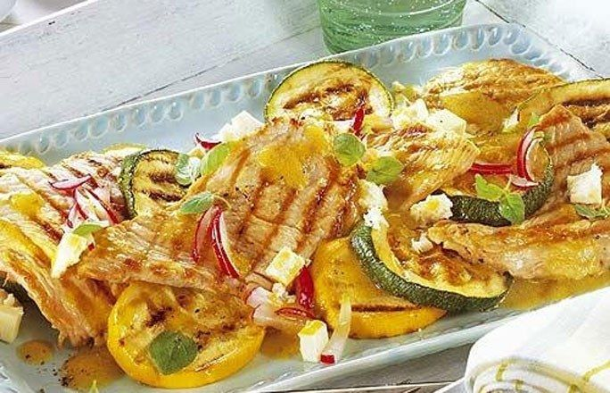 Puten-Zucchini-Platte - Schnelle Rezepte ohne Kohlenhydrate