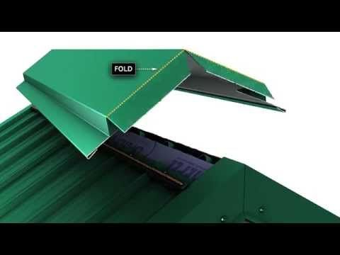 How to install chimney flashing when using Union's MasterRib metal roofing panel. - YouTube