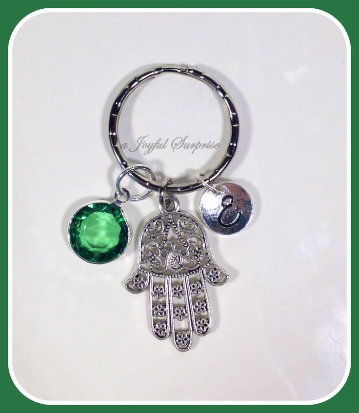 A personal favorite from my Etsy shop https://www.etsy.com/ca/listing/256738739/sale-personalized-hamsa-keychain-hamsa