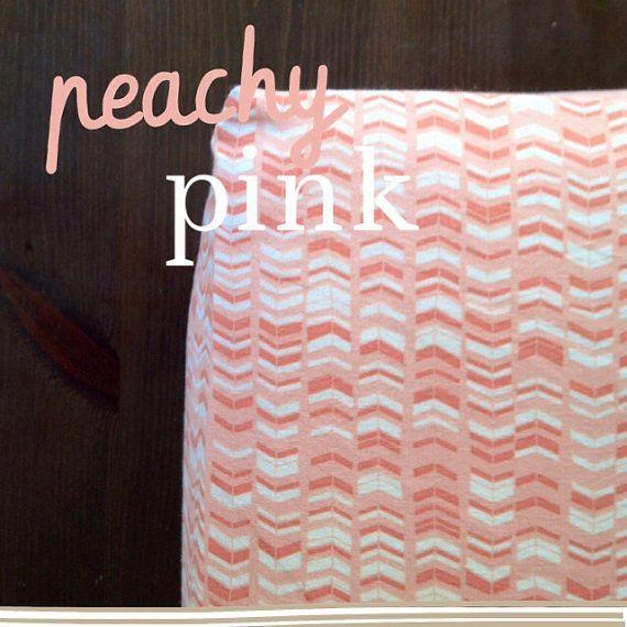 Chevron Baby Bedding - Chevron Stripe Crib Sheet / Peach Pink Nursery / Mini Crib Baby Sheet by Babiease on Etsy, $35.00