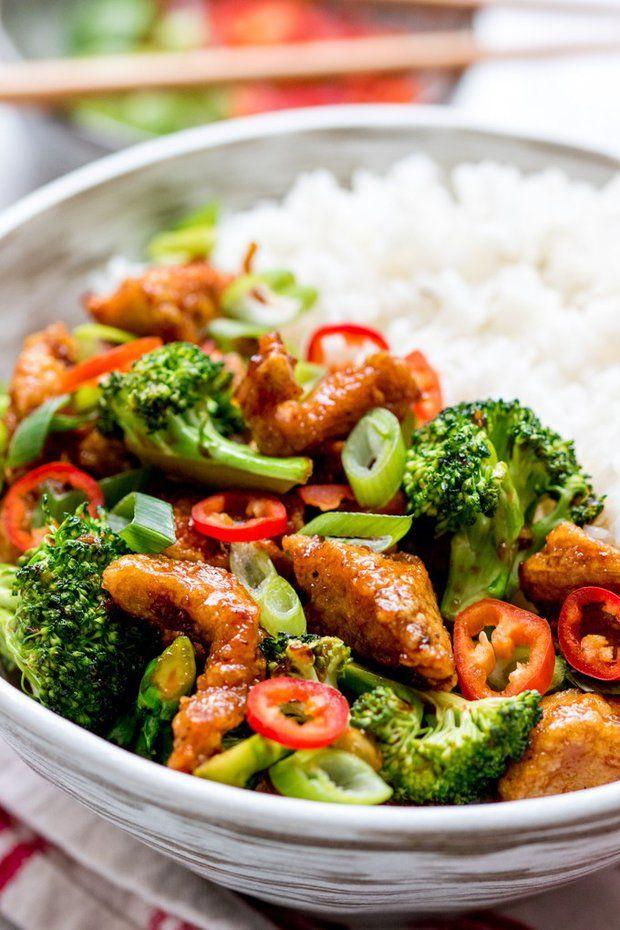 Kuřecí kousky s chilli a brokolicí 2, Foto: All