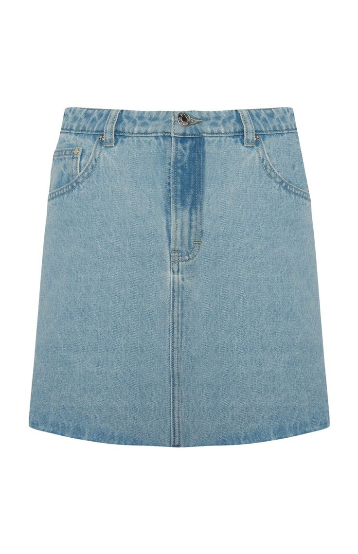 Primark - Light Blue Denim Skirt