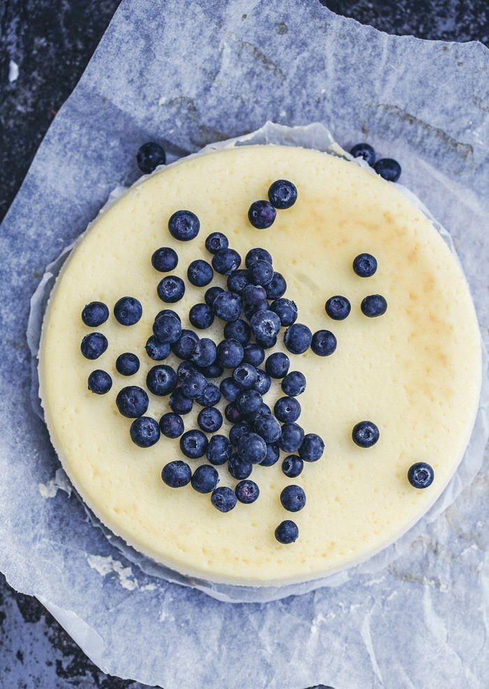 Hellstrøms new york cheesecake med blåbær