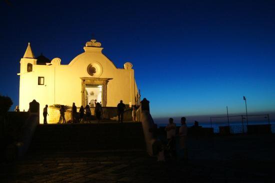 Chiesa del Soccorso, Forio, Ischia with Elena Ferrante in The Story of a New Name.