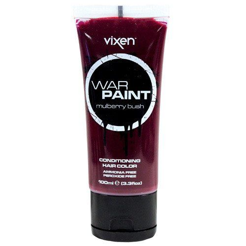 Vixen War Paint Mulberry Bush Conditioning Hair Color Vixen. If you're looking for that deep red-wine color than look no further. Mulberry Bush is the perfect hue of burgundy and maroon!