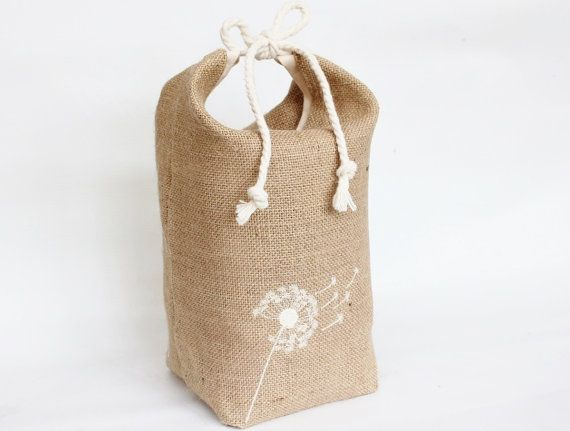 Hessian Burlap Door Stop Dandelion Clock Machine Embroidered Floral Beach House Style Unfilled Fabric Doorstop Feedsa Dandelion Clock Burlap Door Stop