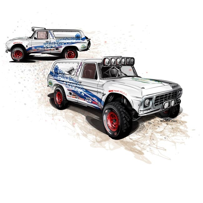 Lifted Ford F150 >> A Class-8 Bronco design from a few years back... | Art ...