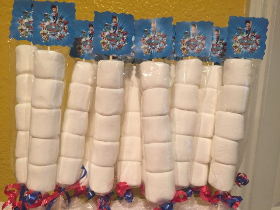 Paw Patrol Marshmallows Party Favors Paw by FantastikCreations