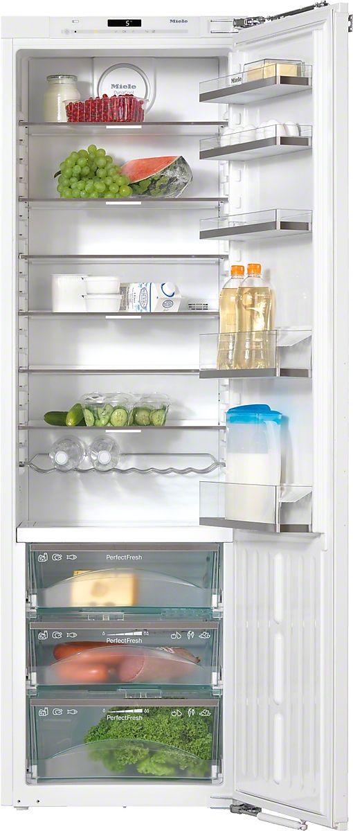 K 37472 iD Einbau-Kühlschrank mit PerfectFresh und FlexiLight für optimale Lagerumgebung und hohen Komfort. Längere Frische und Haltbarkeit der Lebensmittel - PerfectFresh Individuell verstellbare Glasbodenbeleuchtung dank FlexiLight Einlagerung von Lebensmitteln an jedem Platz - DynaCool Reinigung der Türabsteller im Geschirrspüler - ComfortClean Gedämpftes Schließen der Tür durch SoftClose  EUR1.999,00*