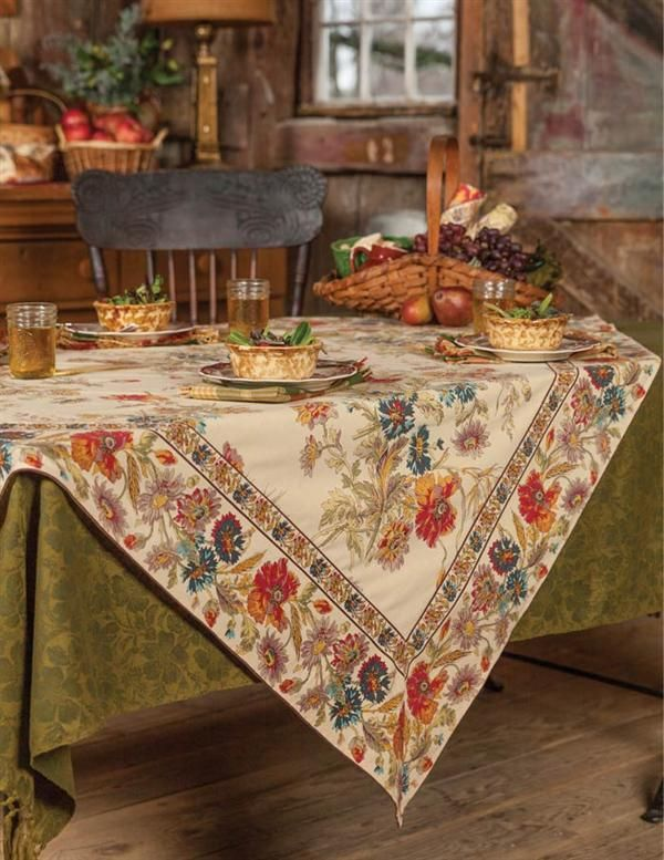 April Cornell Field Flowers Tablecloth