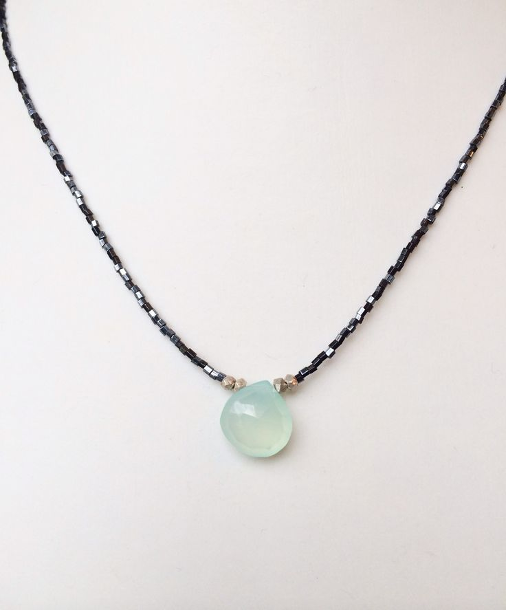 Chalcedony necklace  Sterling silver