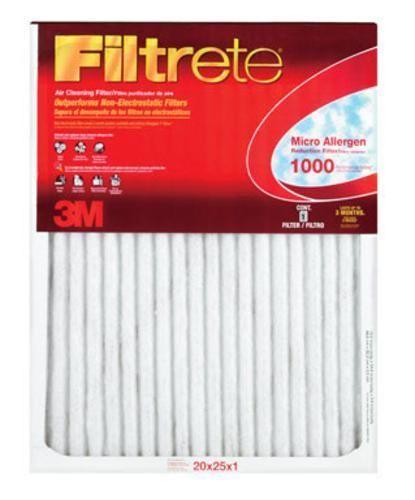 "Filtrete 9803 Micro Allergen Electrostatic Air Filter, 20"" x 25"" x 1"""
