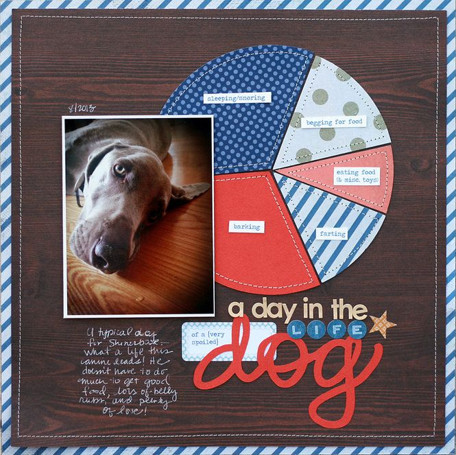 LOL! A Few of the Funniest Layouts, this was my favorite. A Day in the Life of a Dog