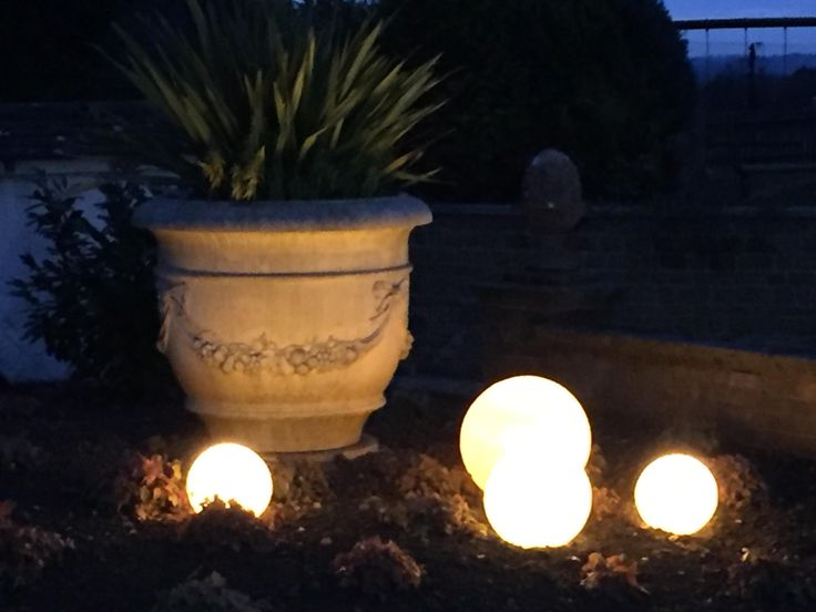 Stone Globe Lights In The #Haddonstone Show Garden Garden Lights U0026 Entrance  Lighting #12v