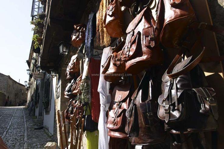 Santillana del Mar - Shop selling hand-made leather handbag  #spain #santillanadelmar #village #history #discover #travel #traveltherenext