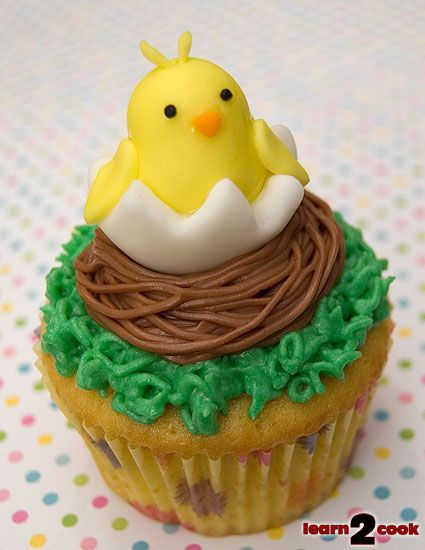 Easter cup cakes | Fondant Figure Easter Cupcakes