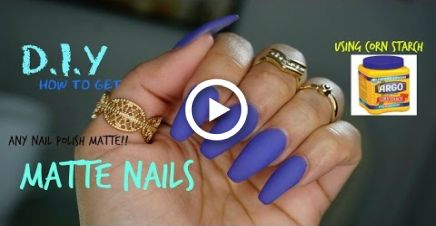 How To Make Any Nail Polish MATTE D.I.Y (USING CORN STARCH)