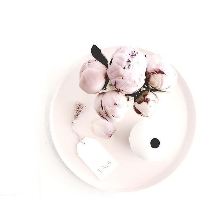 Peony Peefection sitting on our round blush tray with #cooee ball vase...  by @ffrenchee You can shop the look online and don't forget to check out sale with up to 50% off #whitehomeboutique #everydayluxury #shoponline #whbyourstyle #ballvase #blush