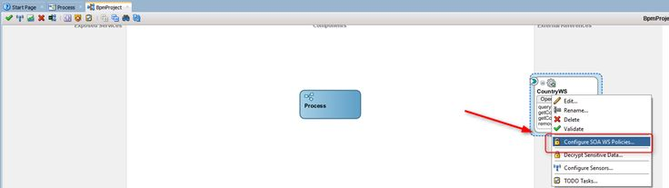 How to refer WebLogic Credential Store map and key in a web service client in an SOA Composite