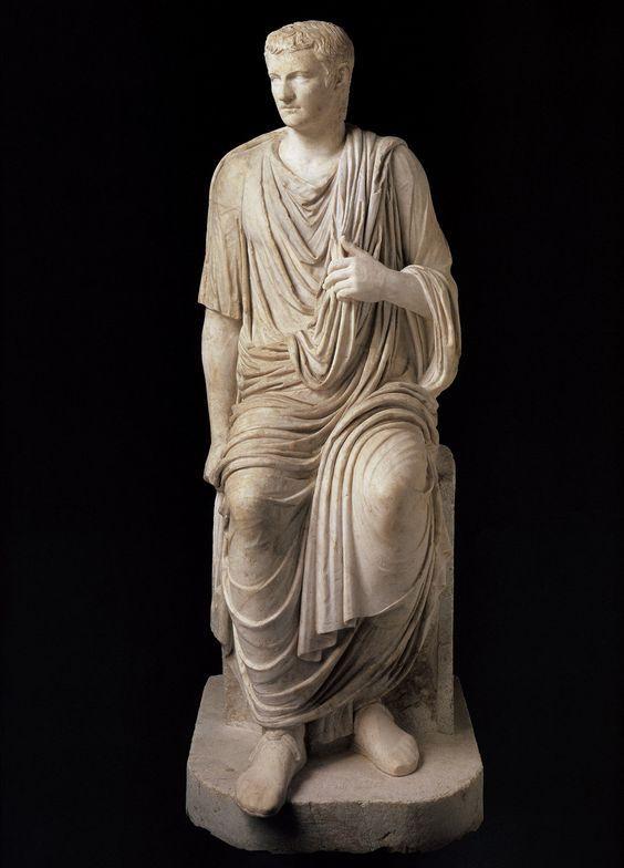 Emperor Caligula, Roman statue (marble), 1st century AD, (Musée du Louvre, Paris). ROMAN  ANTIQUITIES  : More At FOSTERGINGER @ Pinterest