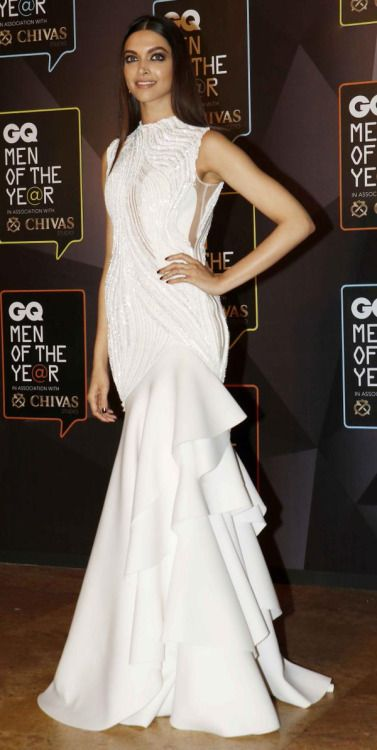 Deepika Padukone in white gown at GQ Men of the Year