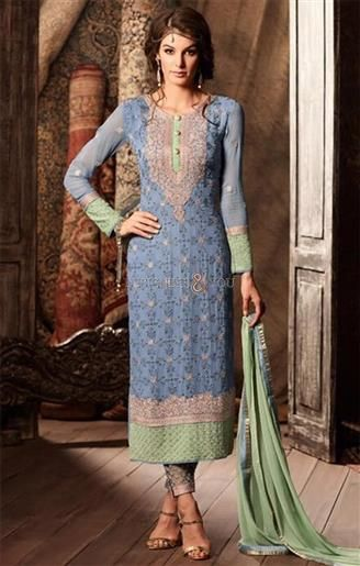 Exquisite Blue Aline Georgette Latest Pakistani Dress  #DesignersAndYou #PakistaniSuits #PakistaniSuitsOnline #PakistaniSuitsPatterns #PakistaniSuitsDesigner #StraightPakistaniSuits #StraightPakistaniDresses #StraightSuitsOnline #AlineSuits #DesignerPakistaniDresses #FashionablePakistaniSuits #FashionablePakistaniDresses