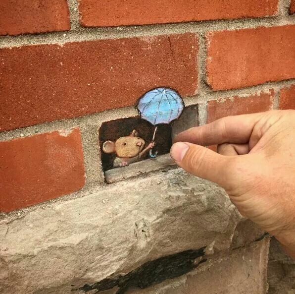 Amazing 3D street art by David Zinn.                                                                                                                                                                                 More                                                                                                                                                                                 More