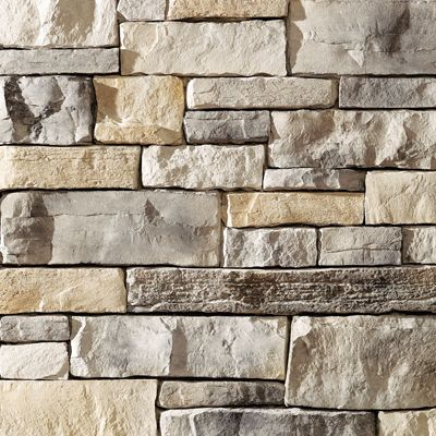 Exterior stone - Prestige Weather Ledge  Love this stone for the cool greys