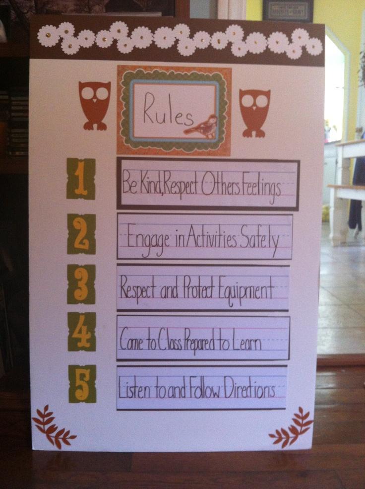 Classroom Pe Ideas : Elementary pe rules miscellaneous classroom ideas