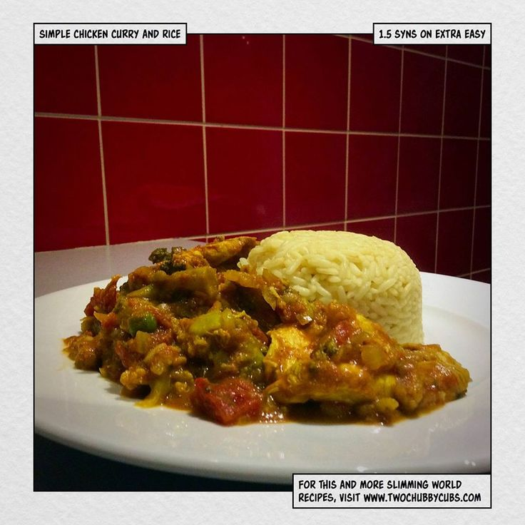 1&1/2 syn chicken curry & rice - Slimming World recipe Two Chubby Cubs blog
