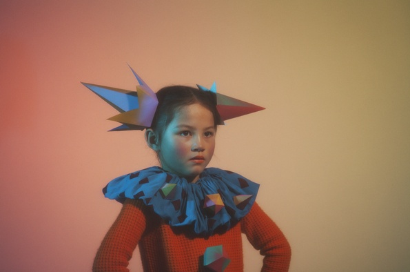 Julie Vianey and Nick and Chloe editorial for Papier Mache Magazine: Children Costumes Clothing, Editorial Shots, Beautiful Editorial, Geometric Collars, Kids Photography, Make Magazines, Chloe Editorial, Children Fashion, Clever Nick