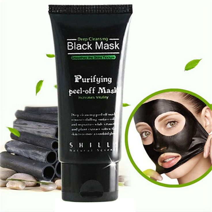 Black Mask Facial Mask Nose Blackhead Remover Peeling Peel Off Black Head Acne Treatments Face Care Suction ($2.23)